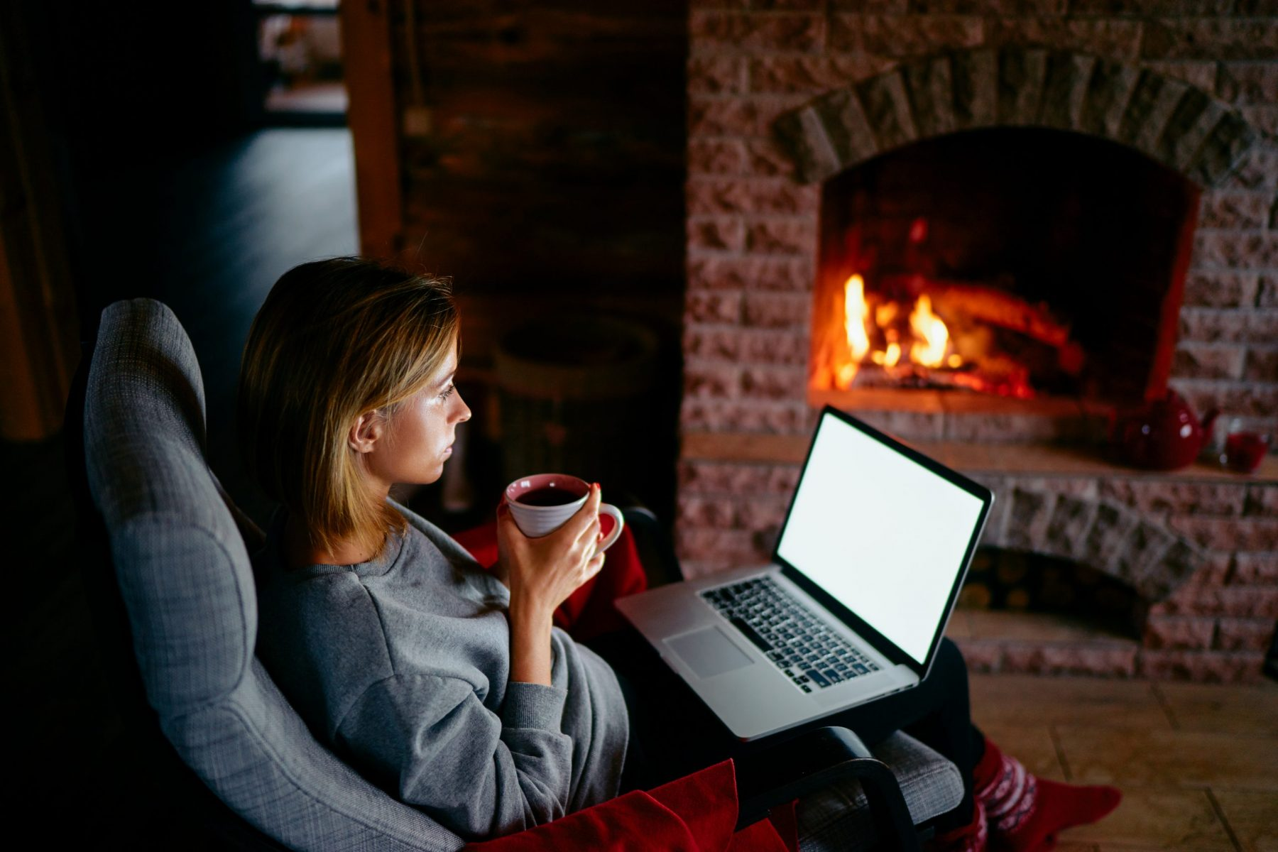 Cape Cod Woman Working from Home and Using More Energy